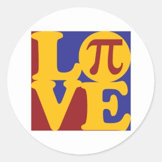 Math Love Round Sticker
