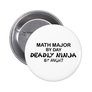 Math Major Deadly Ninja by Night 6 Cm Round Badge