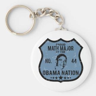 Math Major Obama Nation Keychain