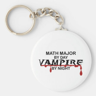 Math Major Vampire by Night Basic Round Button Key Ring