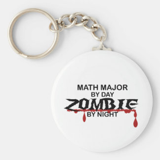 Math Major Zombie Basic Round Button Key Ring