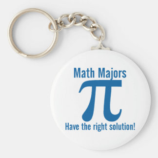 Math Majors have the right solution Basic Round Button Key Ring