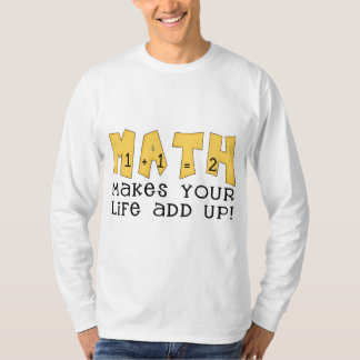 Math Makes Your Life Add Up Tshirts and Gifts