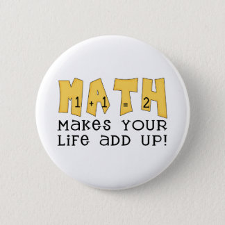 Math Makes Your Life Add Up Tshirts and Gifts 6 Cm Round Badge