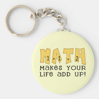 Math Makes Your Life Add Up Tshirts and Gifts Key Ring