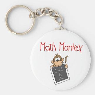 Math Monkey Basic Round Button Key Ring