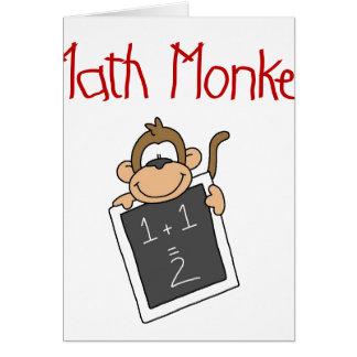 Math Monkey Greeting Card