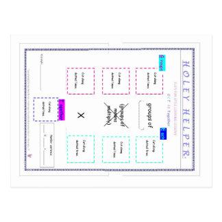 MATH.MULT.120.1 HOLEY HELPER DIRECTIONS CARD POSTCARD