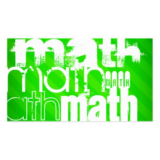 Math; Neon Green Stripes Pack Of Standard Business Cards