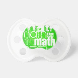 Math; Neon Green Stripes Pacifier