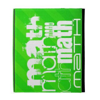 Math; Neon Green Stripes iPad Cases