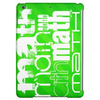 Math; Neon Green Stripes iPad Air Cases