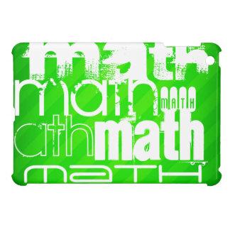 Math; Neon Green Stripes iPad Mini Cases