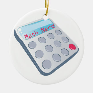 Math Nerd Calculator Christmas Ornament