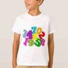 math numbers in colour T-Shirt