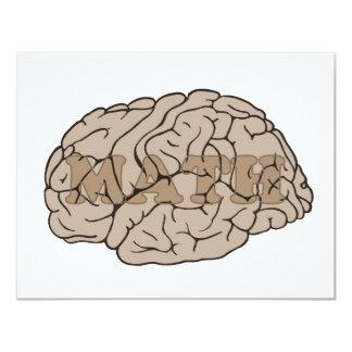 Math On The Brain 11 Cm X 14 Cm Invitation Card