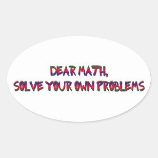 math oval sticker