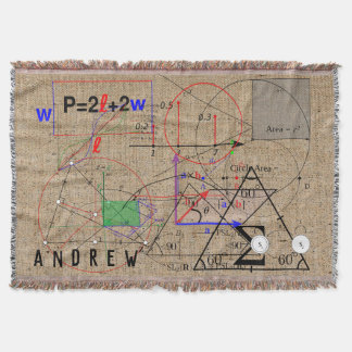 Math Physics Science Equation Personalized Throw Blanket