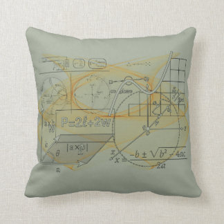 Math Physics Science Formulas Grey Throw Pillow