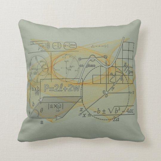 Math Physics Science Formulas Grey Throw Pillow