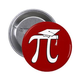 Math Pi Graduate 6 Cm Round Badge