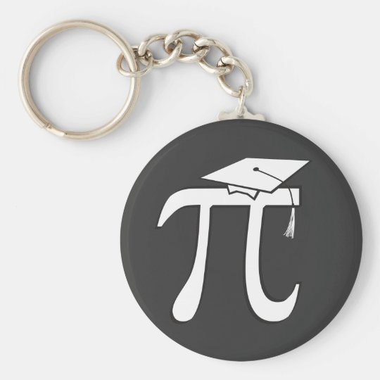 Math Pi Graduate Basic Round Button Key Ring