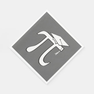 Math Pi Graduate Disposable Serviettes