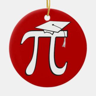 Math Pi Graduate (double-sided) - Funny Grad Round Ceramic Decoration