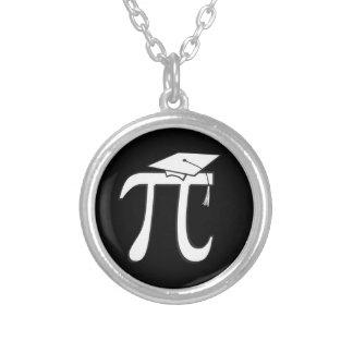 Math Pi Graduate Round Pendant Necklace