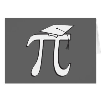 Math Pi Graduate Note Card