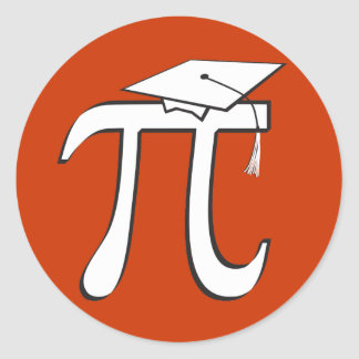 Math Pi Graduate - Pi Day Stickers or Grad Gift