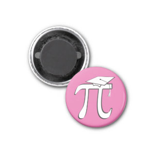 Math Pi Graduate PINK 3 Cm Round Magnet