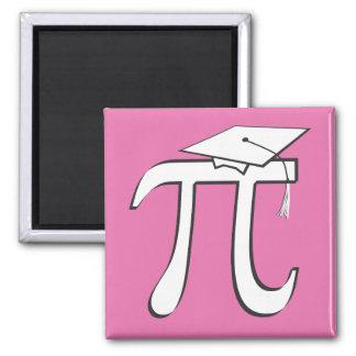 Math Pi Graduate PINK Square Magnet