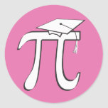 Math Pi Graduate - PINK Pi Grad Gift Round Stickers