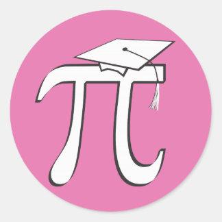 Math Pi Graduate - PINK Pi Grad Gift Classic Round Sticker