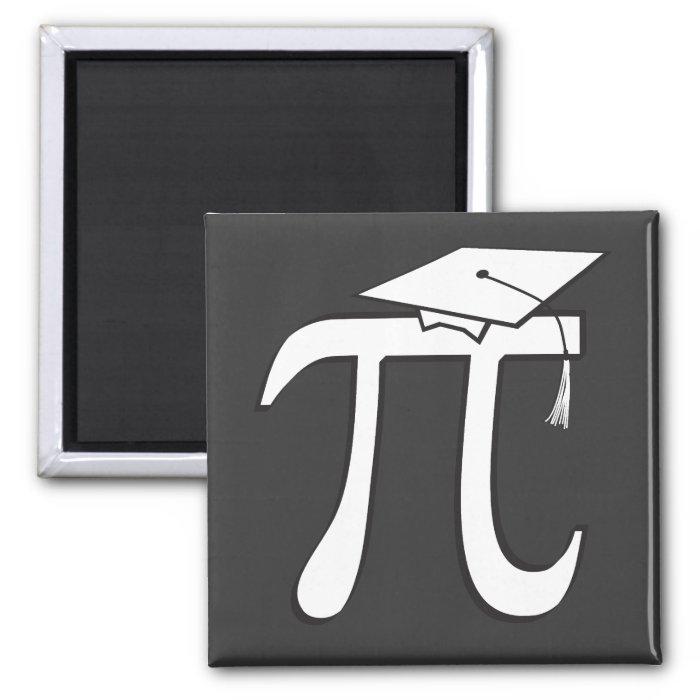 Math Pi Graduate Square Magnet