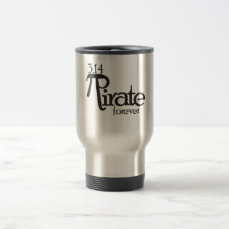 Math Pirate for Pi Day 15 Oz Stainless Steel Travel Mug