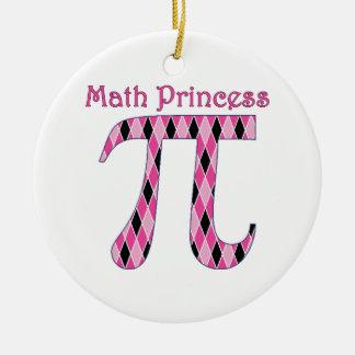 Math Princess Pink and Black.png Round Ceramic Decoration