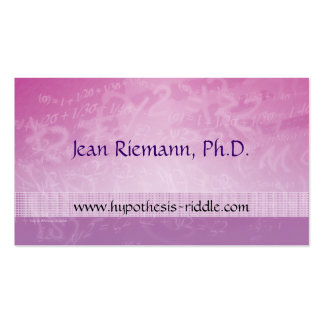 Math Prof Equations Business Card