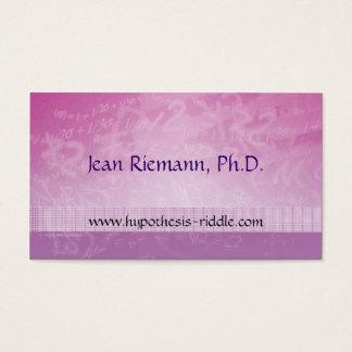 Math Prof Equations Business Card