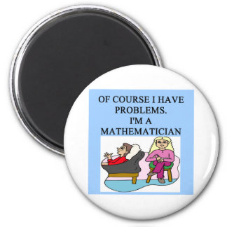 MATH psychology joke 6 Cm Round Magnet