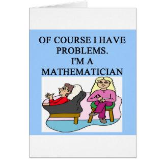 MATH psychology joke Card