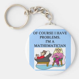 MATH psychology joke Key Ring