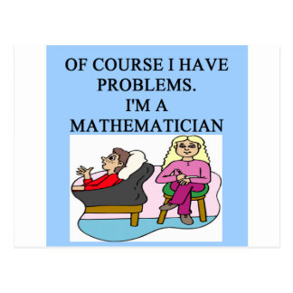 MATH psychology joke Postcard