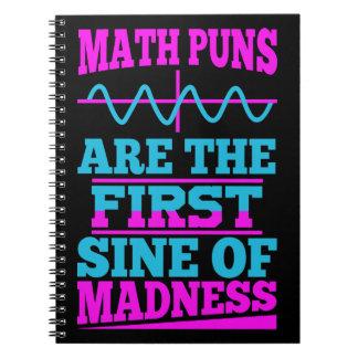 Math Pun First SINE of Madness Notebooks