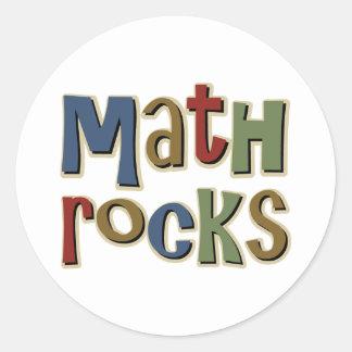 Math Rocks Classic Round Sticker