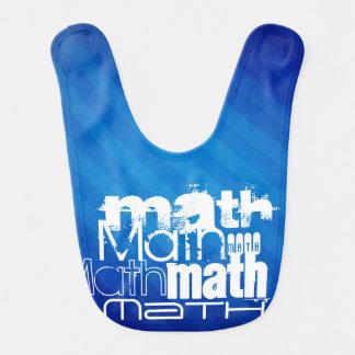 Math; Royal Blue Stripes Bib