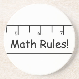 Math Rules Drink Coasters