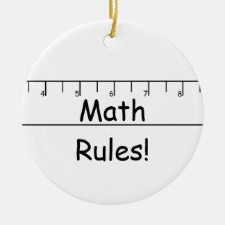 Math Rules! Round Ceramic Decoration