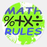 Math Rules Round Sticker